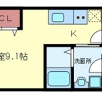9帖の一人暮らし空間