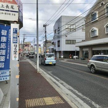 「上長尾」が最寄りのバス停です!