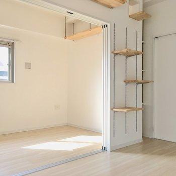 壁にも天井にも、キャットウォーク!猫ちゃんがお部屋を駆け回ります!(※写真は8階の同間取り別部屋のものです)
