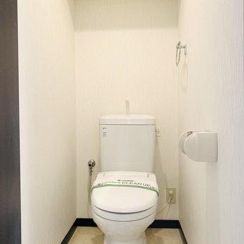 お手洗い。上部には収納もあります。