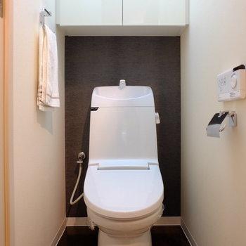 トイレもまだまだピカピカです※写真はモデルルームです。