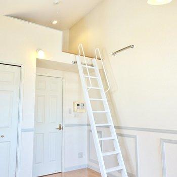 さらに、なんとロフト付き!天井が高くて開放感もあります。