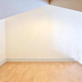 階段側はコンセントがあるので、ライトを灯してアートを飾ってギャラリーにしても◎