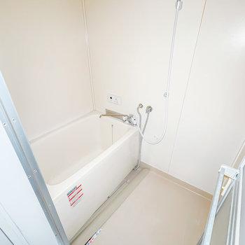 お風呂は少しレトロさが残っていますが、綺麗に清掃されています。(※フラッシュ撮影です)