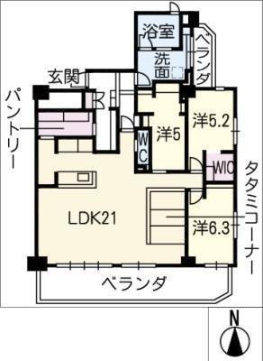 徳川一丁目パークマンション1102の間取り