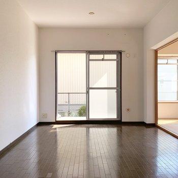 【現状写真】現状は和室が残っている4ldk。左側の壁をどかーんと抜いて広いリビングを作ります。