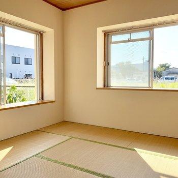 【現状写真】和室部分は洋室に変更します。1階ですが日当たりは抜群です。