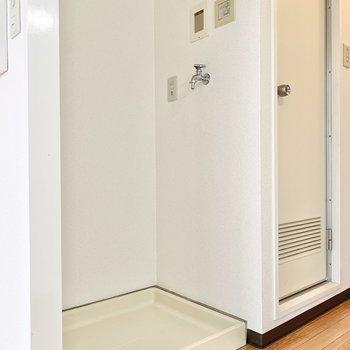 洗濯機置き場は室内に◎