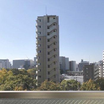 高い建物とは離れているので、人目はあまり気になりません。(※写真は6階の別部屋からの眺望です)