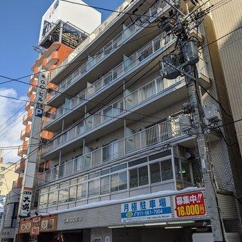 二条市場のすぐ近くにあるマンションです。