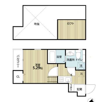 ひとり暮らしにおすすめのお部屋。