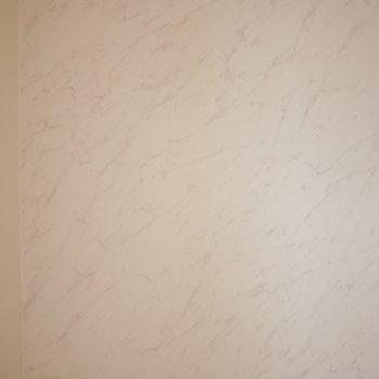 アクセントクロスは白い石目調。(※写真は6階の同間取り別部屋のものです)