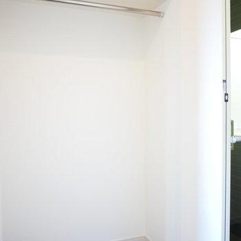 お部屋の中央部分にあるクローゼット (※写真は5階の反転間取り別部屋のものです)