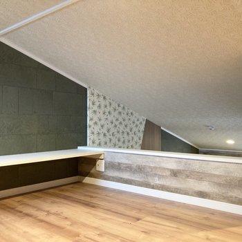 居室とつながっているので、天井が高く開放感があります。