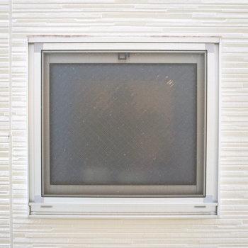全開にして覗いてみると、外はお隣さんの窓でした。