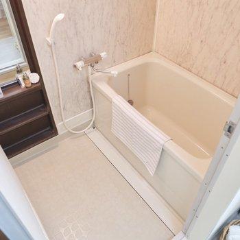 浴室は洗い場、湯船共にゆったりめ。