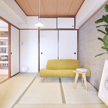 【和室1】和を感じるオトナな空間です。