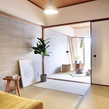 【和室1】北欧家具などで優しいコーディネートをするのも良さそう。