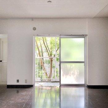 緑を望む窓。優雅なひとときを送れそうです。