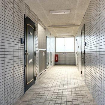共用廊下はきちんと整備されています。