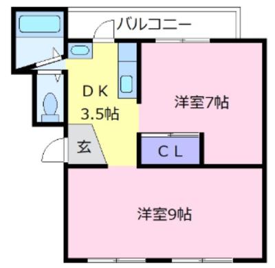 アパートメント(H)の間取り