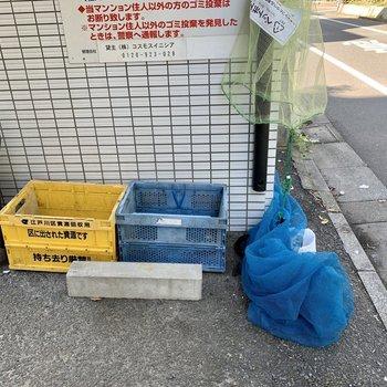 敷地内ゴミ置場でゴミ出し楽々。