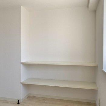 【LDK】棚には本や雑貨を並べようかな。