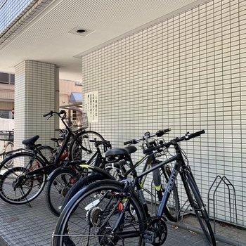 駐輪場があります。
