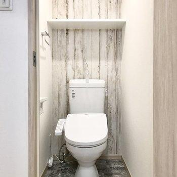 トイレまでこだわり感じます!(※写真は6階の同間取り別部屋のものです)