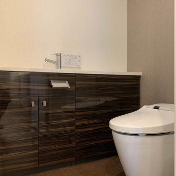 トイレの個室も広めです