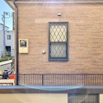 眺望は向かいの建物と通り。