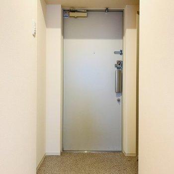 シンプルな玄関スペース。(※写真は4階反転間取り別部屋のものです)