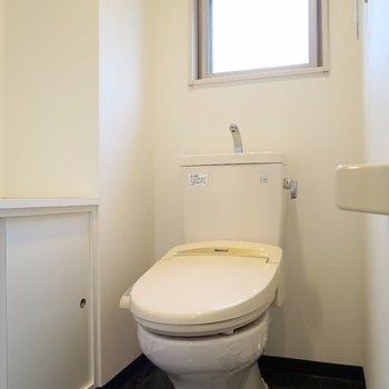 トイレも収納&小窓あり!(※写真は2階の反転間取り別部屋のものです)