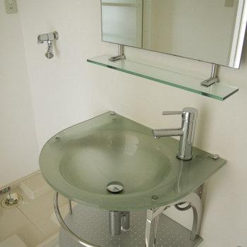 洗面台のデザインも凝ってます