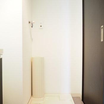 洗濯機置場は室内に(※写真は8階の反転間取り別部屋のものです)
