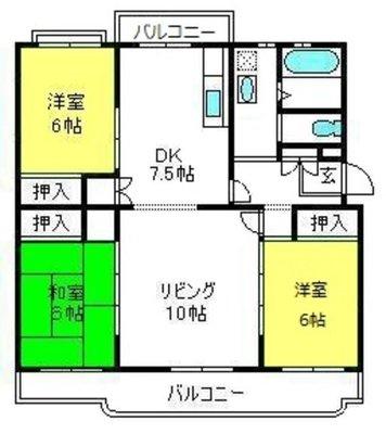 東新井団地20号棟の間取り
