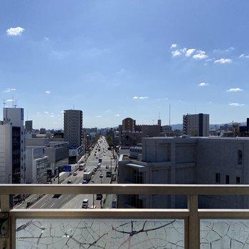 6階からの景色、グッドです◎