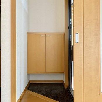 コンパクトながら玄関ホールが設けられているのはグッドポイント。