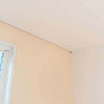 天井にはフックがあるので、アートやドライフラワーなどを掛けて楽しめます。