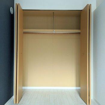 【洋室】大容量のクローゼット◎衣類を掛けることもできます。