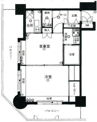 エステート・モア平尾駅前通りの間取り