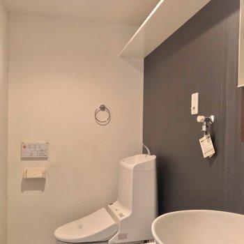 トイレはウォシュレット付きです。