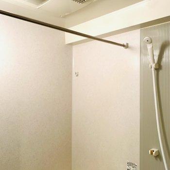浴室乾燥機付きなので、雨の日も安心してお洗濯できますね。(※写真は2階の同間取り別部屋のものです)