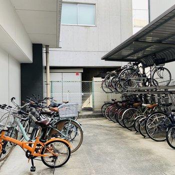 もちろん自転車置き場も。