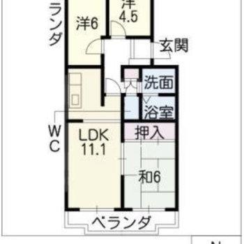 間取りはなんと3LDK!子ども部屋も在宅ワークのスペースも用意できるのが嬉しい。