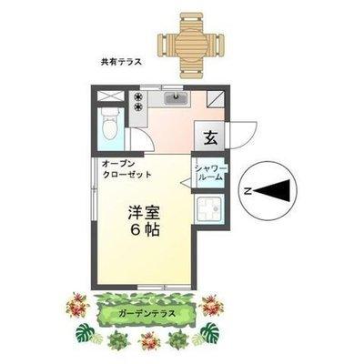 恵明荘 Herbal Apartment みんなで創るキッチンガーデンの間取り