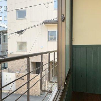 横の窓にもフラワーボックスがあります。