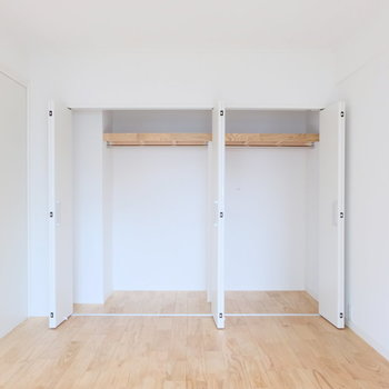 【完成イメージ】収納は壁一面にあるので、たっぷり仕舞えます!