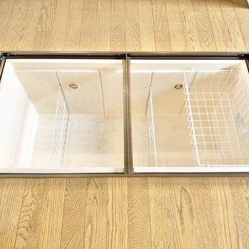 【DK】キッチン前には備蓄できる床下収納がありますよ