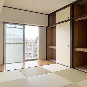 和室は琉球畳と広縁スペースがステキです!